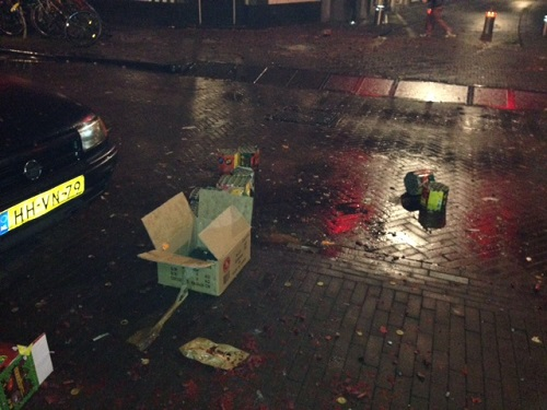 Trash after Dutch New Years 2013
