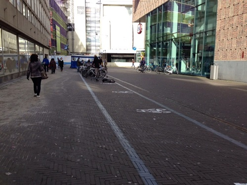 temporary biking situation The Hague