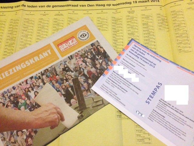 local election material for The Hague