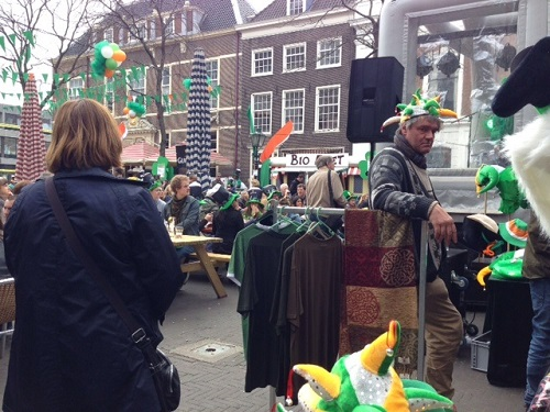 St Patricks Day crowd The Hague 2014
