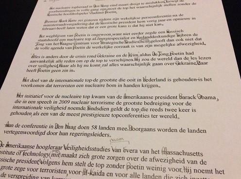 Dutch homework find missing punctuation