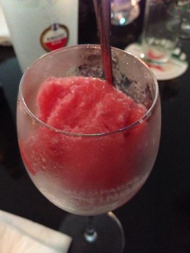 strawberry slush drink