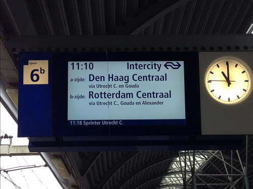 train sign in the Netherlands