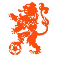 oranje leeuw met voetbal