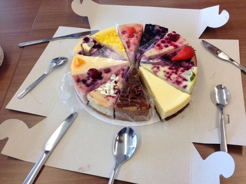 cheesecake from the Cheesecake Company Den Haag