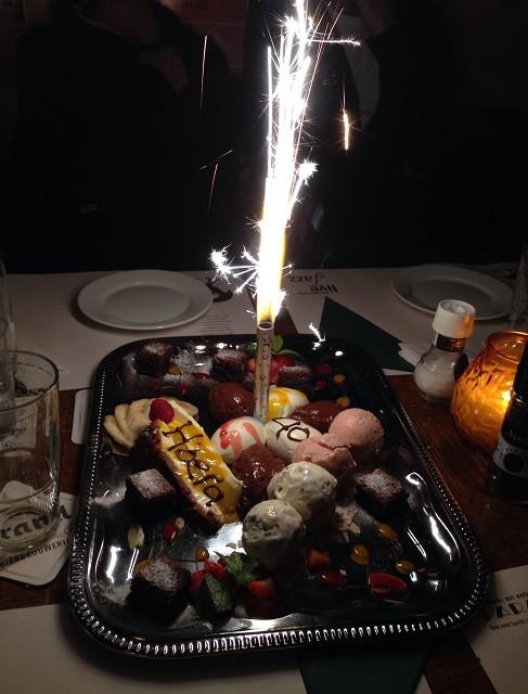 birthday dessert by Paraplu in The Hague