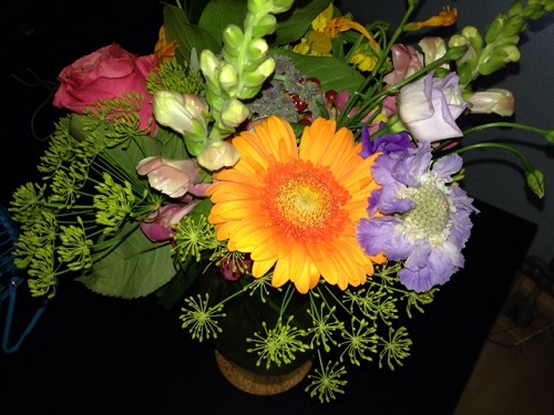 flowers for Marcos birthday