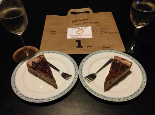 1 year anniversary double chocolate cheesecake