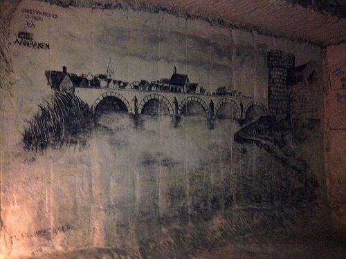 drawing of Maastricht in north caves