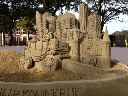 200 jaar koninkrik sand art in The Hague