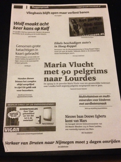 odd headlines or signs in Dutch