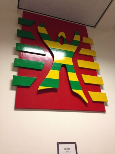 Art work at a Dutch school