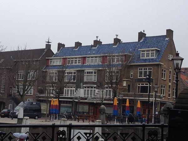 blue tile roof in the Netherlands