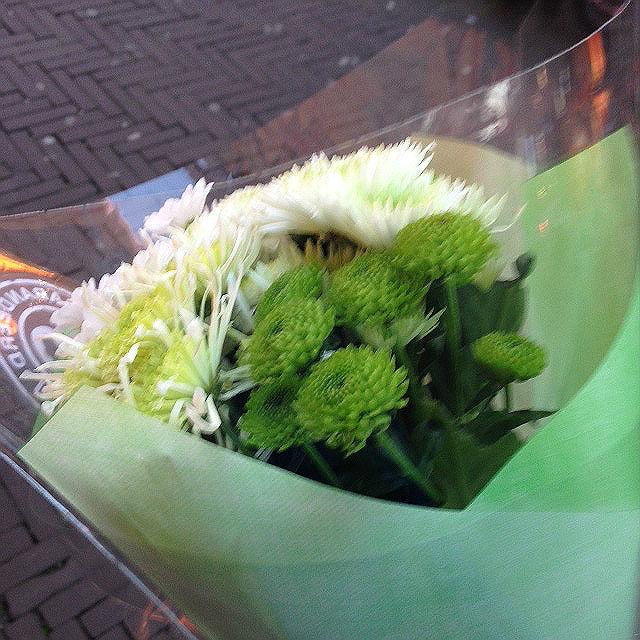 Green-white flower bouquet
