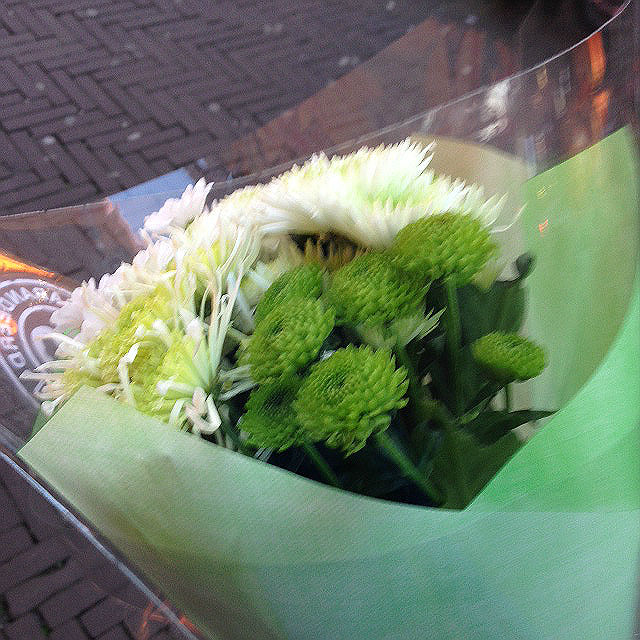 Green-white flower bouquet