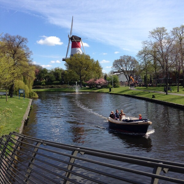 Leiden windmill and canal