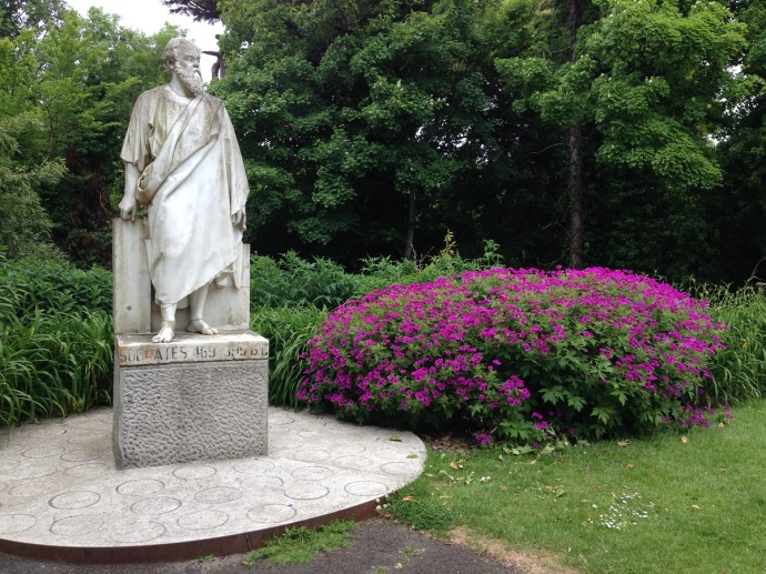 Statue of Socrates National Botanic Gardens in Dublin