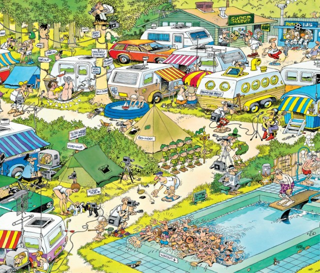 Camping chaos puzzle Jan van Haasteren