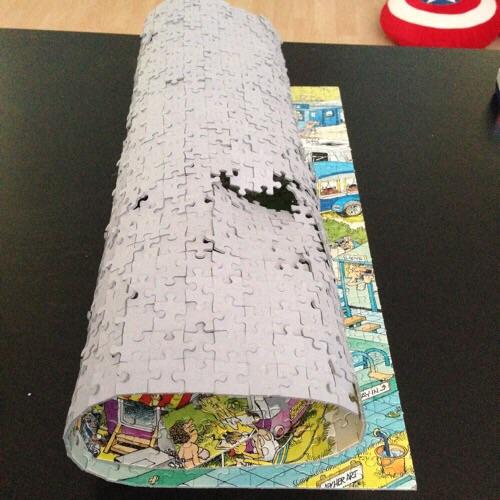 Folded up puzzle