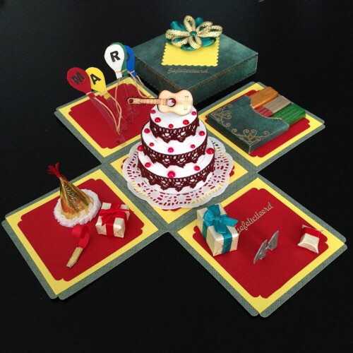 Opened birthday card box