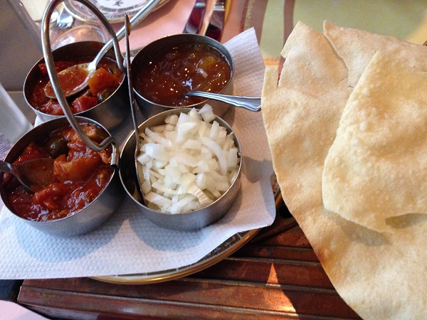 Appetizers at Ramna restaurant in The Hague