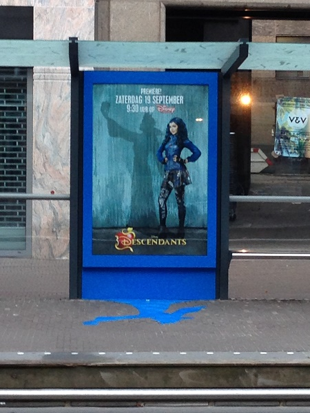 Disney Descendants advertisement in The Hague