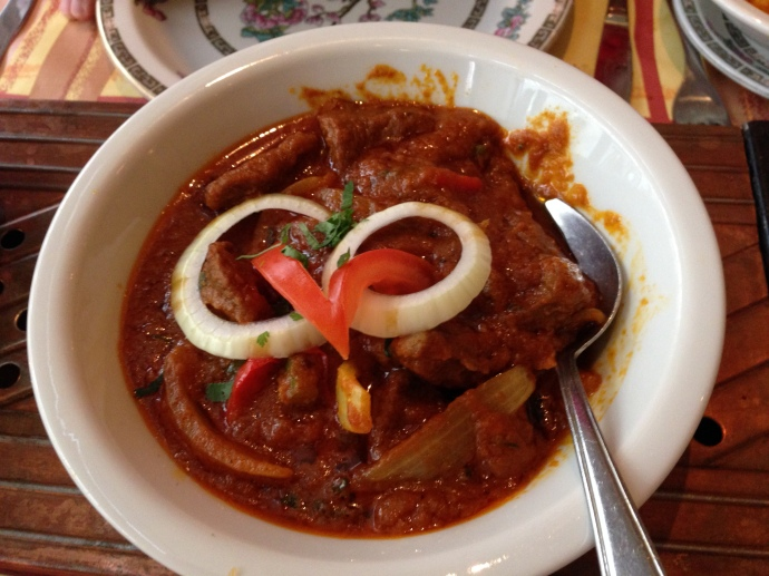 Dopiaza curry at Ramna restaurant in The Hague