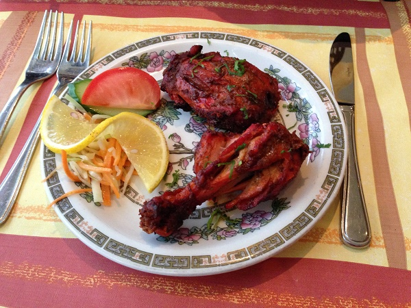 Tandoori chicken at Ramna restaurant in The Hague