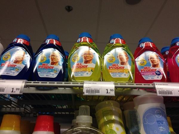 Bottles of Mr Proper, Albert Heijn, The Hague