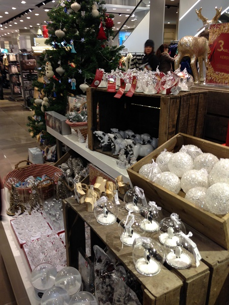 Christmas items by Marks and Spencer in The Hague 2015
