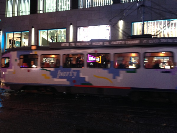 Party tram in The Hague