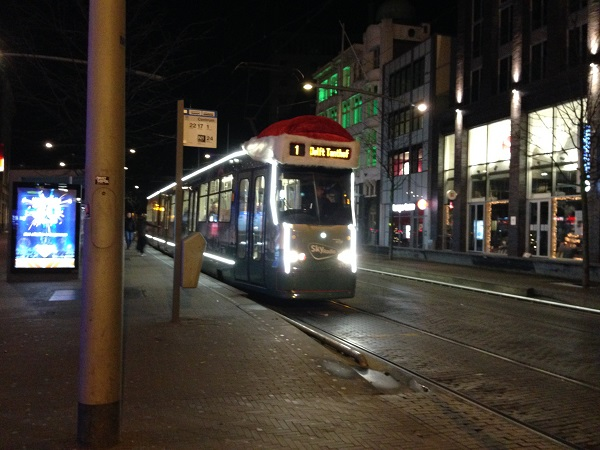 2015 holiday tram 1 in The Hague