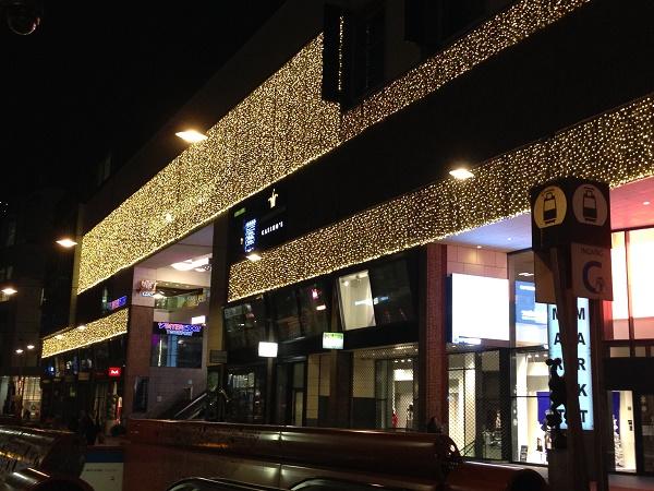 Christmas lights Spui The Hague 2015