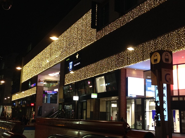 Christmas lights Spui The Hague 2015