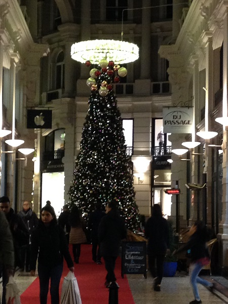 Christmas tree in de Passage, The Hague, 2015