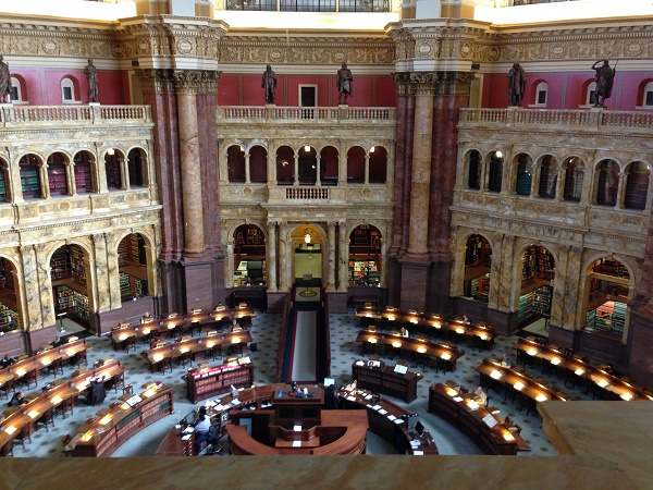Reading room at Library of Congress