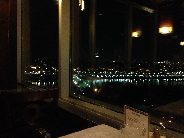 View from top floor, Holiday Inn Arlington VA