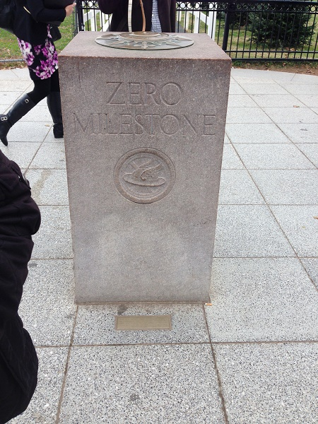 Zero milestone outside White House