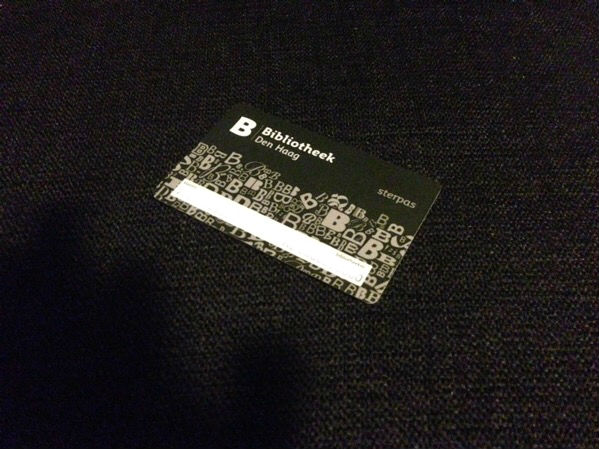 Sterpas library card (The Hague)
