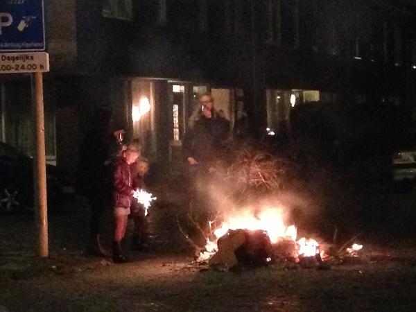 Stirring the fireworks fire (Netherlands)