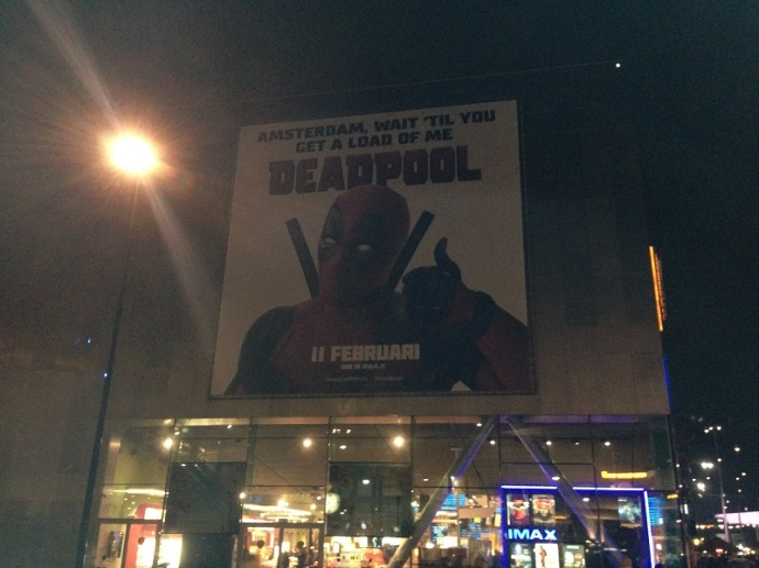 Deadpool advertisement in Amsterdam