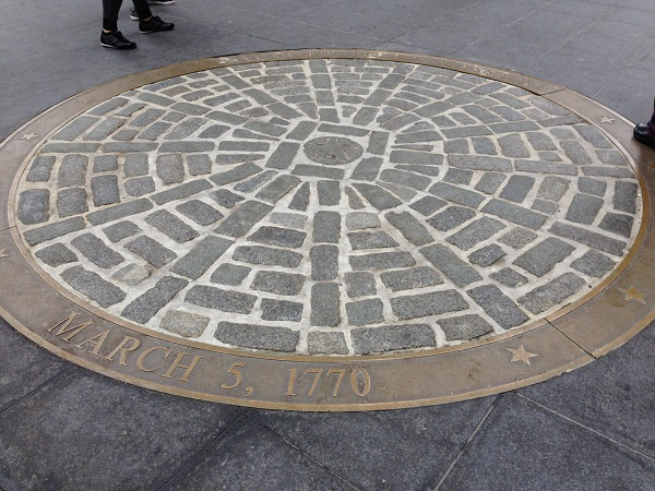 Boston massacre site marker