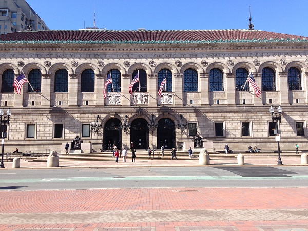 Boston public library entrance