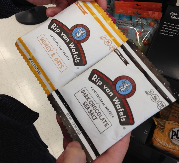 Dutch stroopwafels at a US Target store
