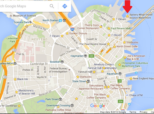 Google Map of Boston North End