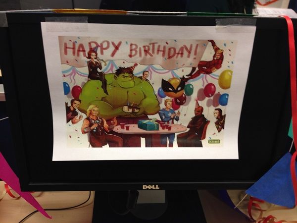 Marvel Happy birthday printout