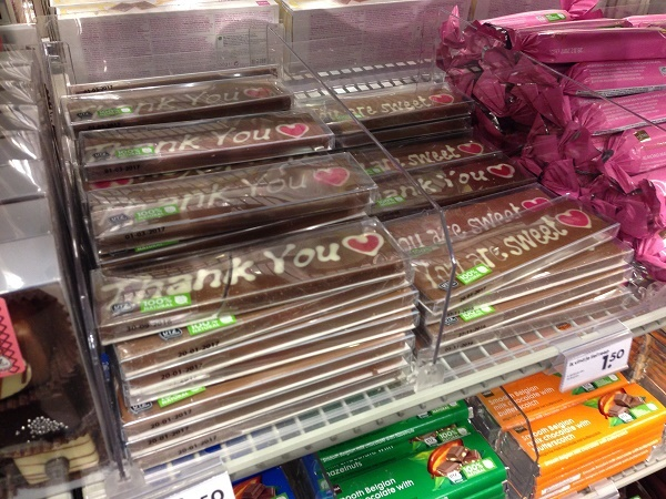 Thank you and You are sweet chocolate bars