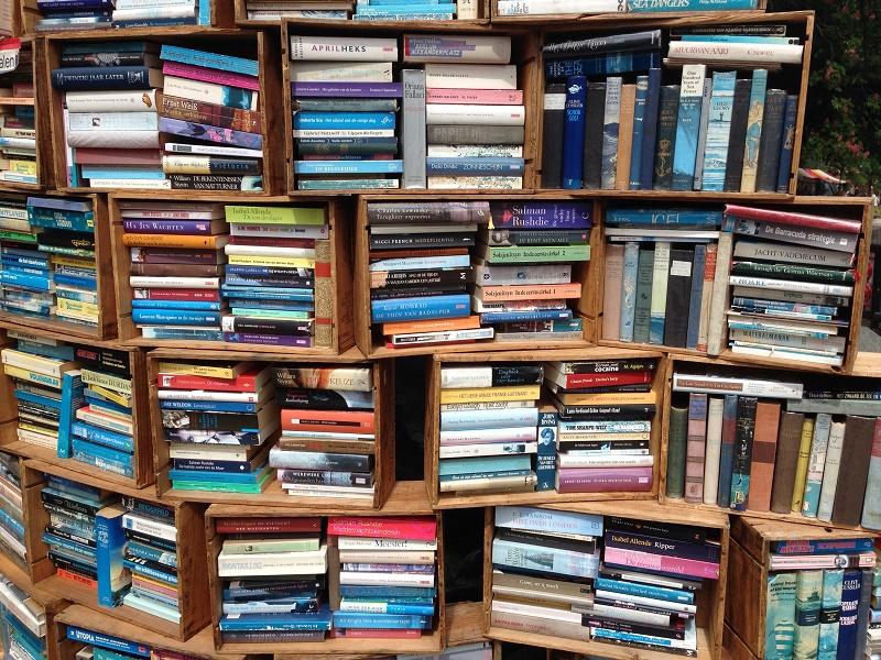 Books at the Rrrollend Food truck festival Den Haag