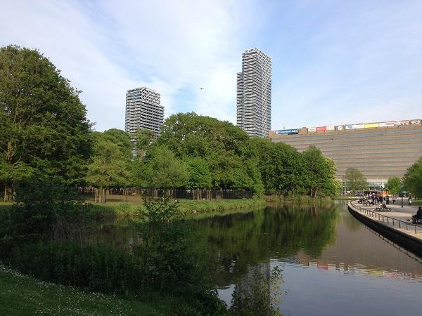Den Haag skyline from Maliveld