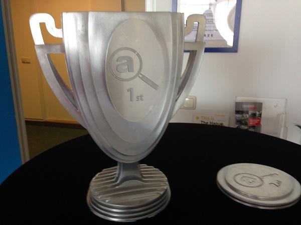 Amaze Escape 1st place trophy The Hague